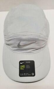 Nike Adult Tailwind Aerobill Running Cap Light Gray/3M NEW BV2205-100