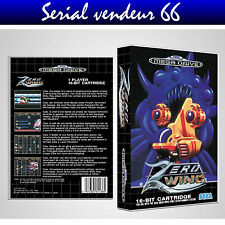 """Boitier du jeu """" ZERO WINGS """", Megadrive, PAL FR. HD. SANS LE JEU."""
