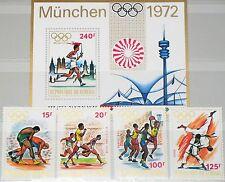 SENEGAL 1972 494-97 Block 10 365-369 Olympics Munich München Wrestling Sport MNH