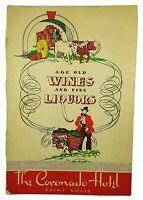 The Coronado Hotel Saint Louis MO Missouri Wine And Fine Liquor Menu Vtg 1944