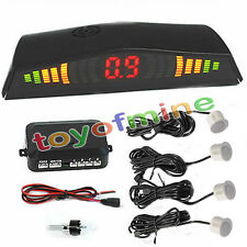 Hot Sale 4 Parking Sensors LED Display Car Reverse Backup Radar Kit White 5