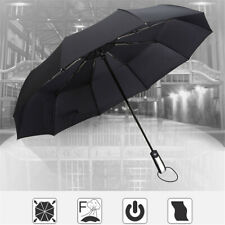 10 Ribs Automatic Open/Close Umbrella Portable Folding Compact Windproof AU