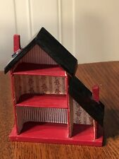 Vintage Dollhouse Miniature Child's Dollhouse For Play Room Nursery Toy Wood