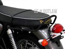black coated seat handle for Triumph Bonneville 865 SE T100 2006-2016 grab bar
