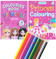 Princess Colouring Book Books Activity For Kids For Girls Children OVER 60 PAGES
