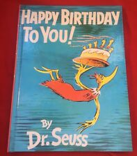 """""""Happy Birthday To You"""" by Dr Seuss (hardcover 1987) excellent clean condition"""
