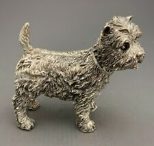 More details for sterling silver westie sculpture