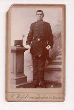 Vintage CDV Unidentified Military Man Uniform Soldier L. Vogel Photo