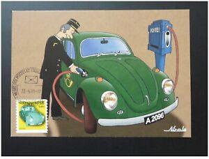 car automobile Volkswagen Beetle maximum card Luxembourg 2001