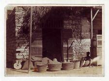 1931 Pietra macine cereali grano shop mercato di Alessandria d'Egitto ORIGINALE PHO