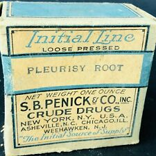 S.B. Penick Co.Pleurisy root CRUDE DRUGS NEW YORK Herb Medicine Box Full sealed