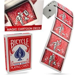 Brand New Magic Trick - Original Magic Cartoon Deck - Bicycle Version