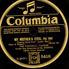 """PICCADILLY PLAYERS  My mother's eyes/ Jericho  """"Golden 20's""""    78rpm      S7026"""