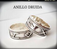 DRUIDA ANILLO PLATA DE LEY 925ml, SILVER DRUID RING,ANILLO DRUIDA EN PLATA DE LE