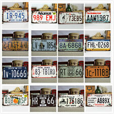 Vintage Metal Car Decorative License Plate United States Home Decor Auto Tags