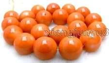 "SALE Big 18.5-20mm high quality 100% nature round Orange Coral strand 15""-los506"