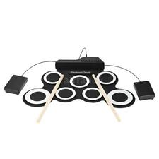 Compact Size Portable Digital Electronic Roll Up Drum Set Kit 7 Silicon K8O9
