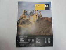 Caterpillar D7R Track-Type Tractor Standard XR LGP Sales Brochure Manual Specs