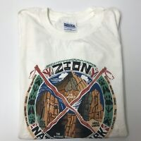 Vintage Zion National Park T Shirt 90s Angels Landing Hiking Outdoors XL