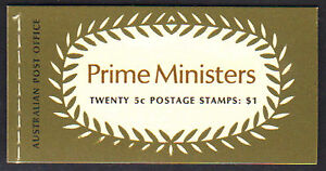 1969 $1 Prime Ministers booklet. Several edition/interleaf variations available