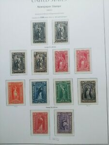 1895-1897 NEWSPAPER COMPLETE SET 1C-100$ VF MLH US USA UNITED STATES WK1.1 0.99$