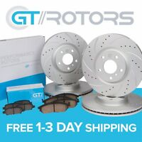 Front + Rear Brake Disc Rotors & Ceramic Pads for BMW E46 325i 325ci 328i 00-06