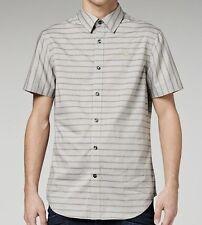G-Star Raw M Mens Tonal Grey Correct Canfield SS Striped Shirt BNWT Top Top s BN