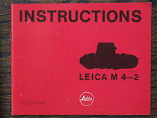New Leica instructions book for M4-2 range finder 35mm film camera M6 M3