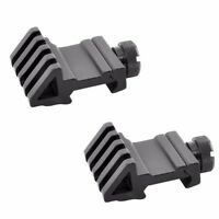 2 PACK 45 Degree Angled Offset Side Rail Scope Accessory Backup Sight Mount