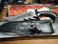 Raptor Fantasy Fighter Knife w/Sheath - Gil Hibben Designed (UC750) mint in box