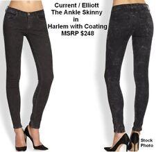 Current Elliott Ankle SKINNY Jean Harlem Leather-like Coating Sz 0 / 24