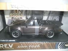 PORSCHE 911 G-MODELL TURBO 3.3 L CABRIOLET BROWN 1:18 NOREV 187514 VERY RARE