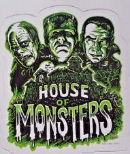Frankenstein Dracula Phantom Of The Opera House Of Monsters Sticker New Decal