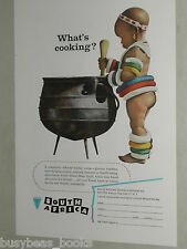 1957 SOUTH AFRICA advertisement, South African Tourism Native boy at cooking pot