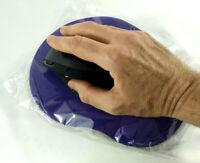 Tapis de souris optique Violet Neuf scelle avec repose poignet confort coussin