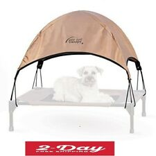 Tan Pet Cot Canopy Medium Shade For Dog Cat Outdoor Camping Picnic Beach Travel