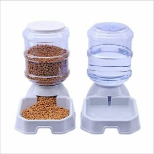 Automatic Pet Food Dispenser Dog Cat Feeder Water Auto Dish Drink Bowl Container