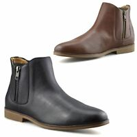 Mens New Zip Up Casual Smart Formal Chelsea Dealer Work Ankle Boots Shoes Size