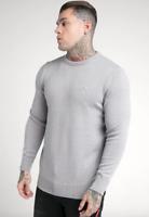 Mens SikSilk Sik Silk King Crew Neck Sweatshirt Jumper Sweater Gym Light Grey