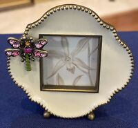 Jay Strongwater-Neiman Marcus SIGNED Mini Picture Frame, COA, Swarvoski Crystals