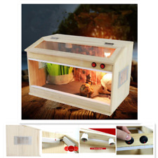 Lizard Frog Snake Reptiles Enclosure With E27 Screw Heat Cage Turtle Crab Tank