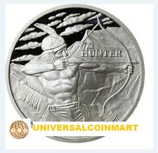 The Hunter 1 oz .999 Silver Round Proof-like 2016 - AMERICAN INDIAN BISON Coin