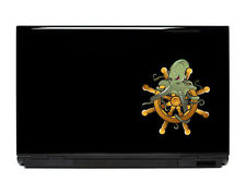 Octopus ship wheel sticker decal laptop automotive netbook window stickers