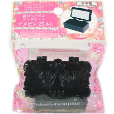 Daiso Japan Bobby Hair Pin with Mirror Case Set (25 pieces) - Made in Japan