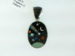 Turquoise and Onyx Cosmic Pendant
