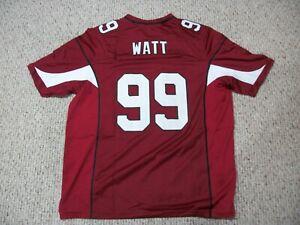 J.J. WATT Unsigned Custom Arizona Sewn Red New Football Jersey Size S-3XL