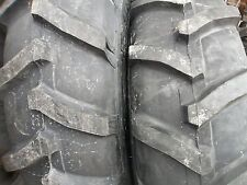 TWO 13.6X28,13.6-28 JOHN DEERE 2030 8 Ply R 1 Bar Lug Tractor Tires with Tubes