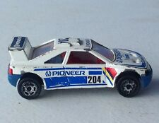 vintage rare Majorette PEUGEOT 405 T 16 Pioneer Shell advertising 204 blue white