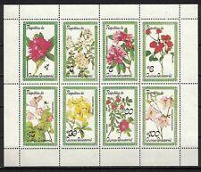 Equatorial Guinea:1978 MI#1213-20 S/S MNH FLOWERS
