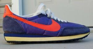 VTG* 1979* Nike Waffle Trainer II* Blue & Orange* sneakers* size 7.5M* NOS*